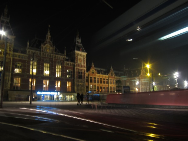 Night time, Amsterdam Centraal