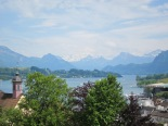 View across Lucerne, from city walls