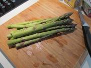 Prep the asparagus