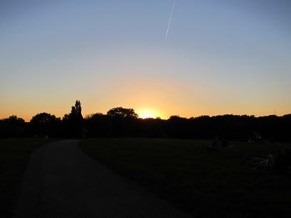 Sunset on Hampstead Heath