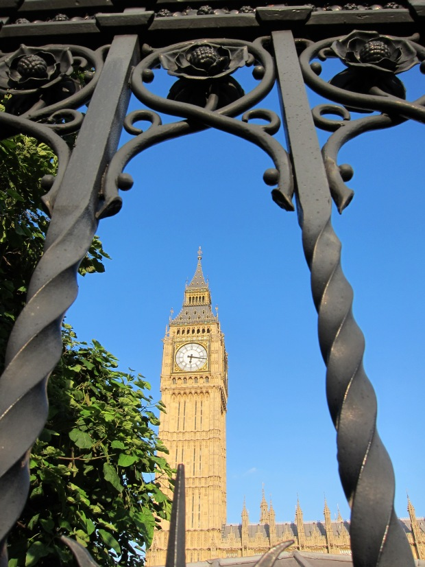 Saint Stephen's Tower (or, Elizabther Tower; or, Big Ben); Neo-Gothic in style...
