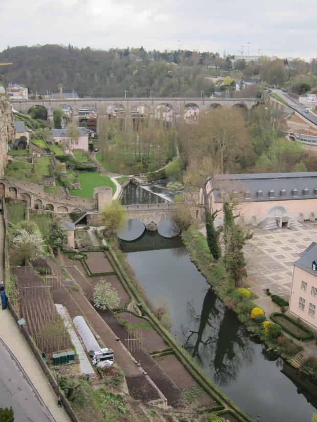 Petrusse River and bridges