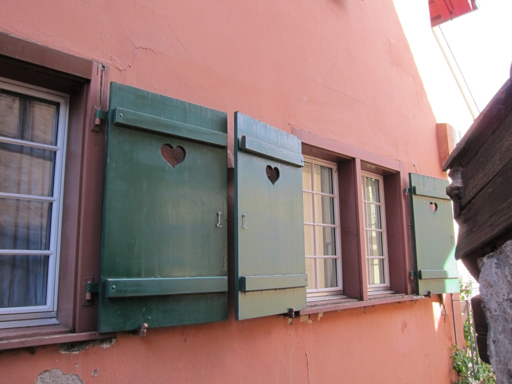 Heart-shaped window shutters, Schaffhausen