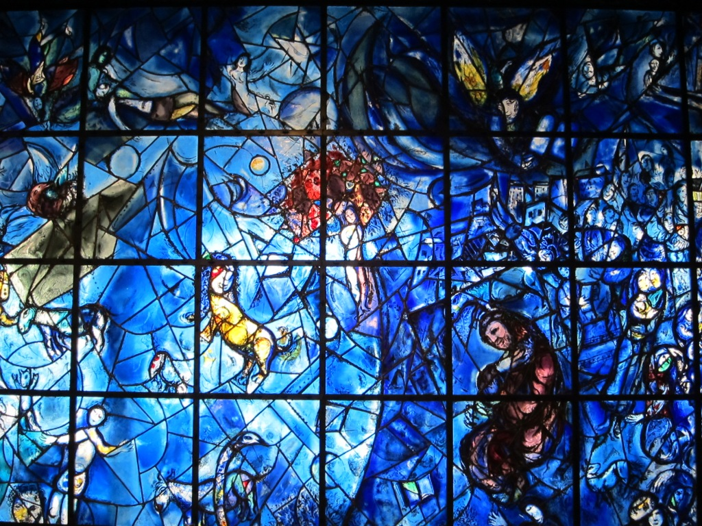 Marc Chagall, Peace Window, United Nations headquarters New York City