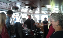 Tour of the bridge, led by a charismatic French crew member who told us of the joys of sailing with the winds